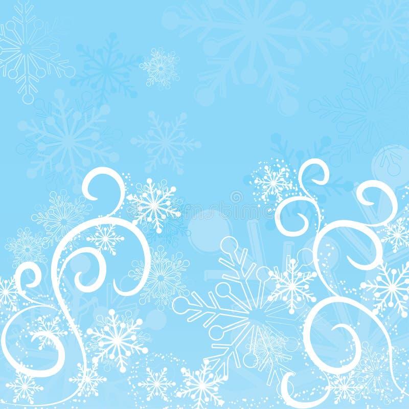 Fiocchi di neve priorità bassa, vettore di inverno illustrazione vettoriale