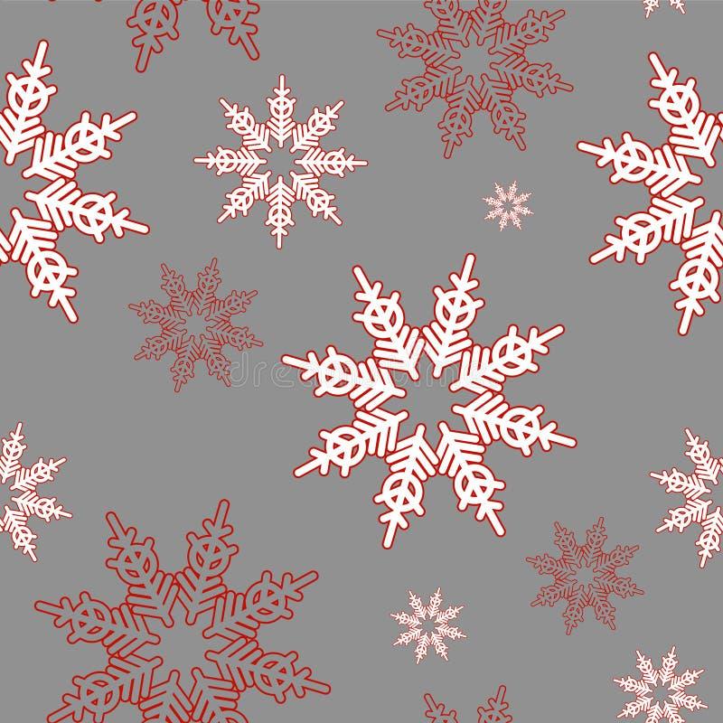 Fiocchi di neve Reticolo senza giunte di natale immagini stock