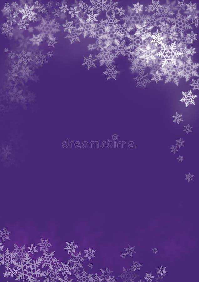 Fiocchi di neve su natale illustrazione vettoriale
