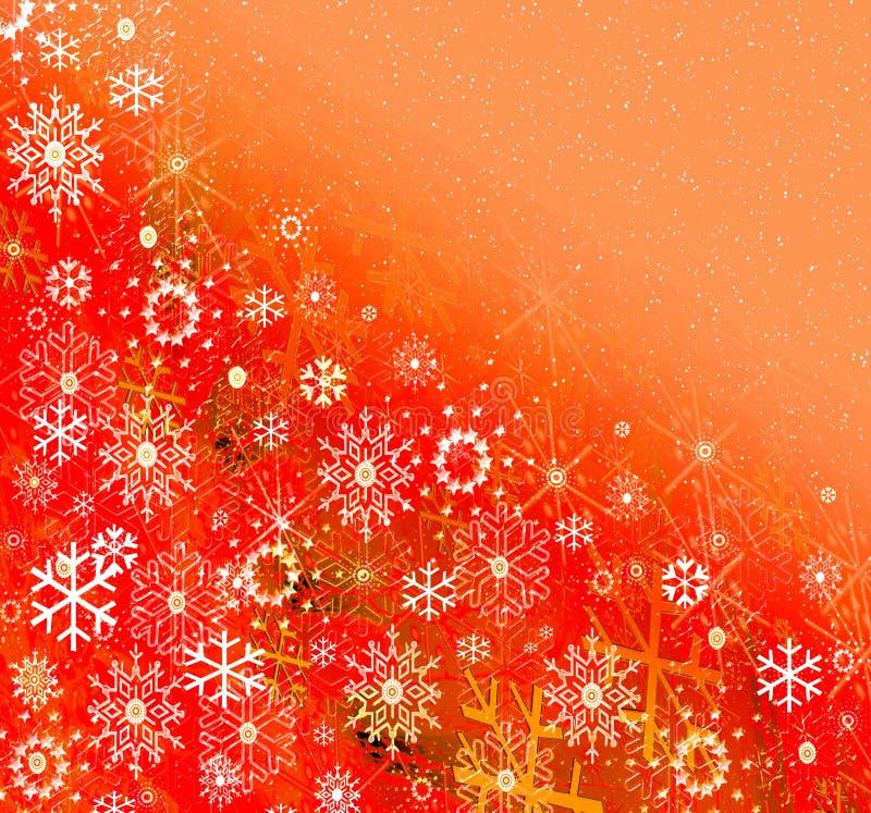 Fiocchi di neve su priorità bassa allegra illustrazione vettoriale