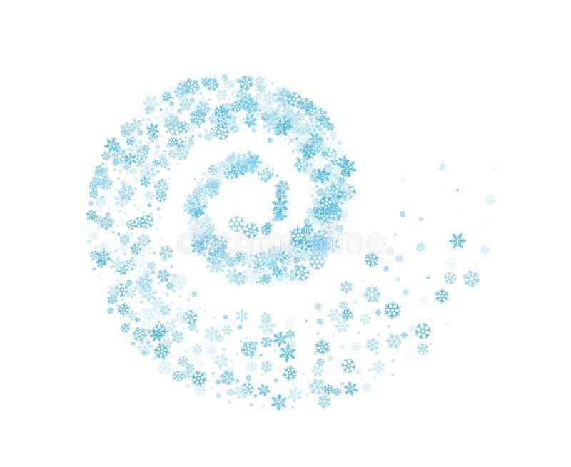 Download Fiocchi Di Neve Torti Nel Vortice Illustrazione Vettoriale - Illustrazione di festive, natale: 117978352
