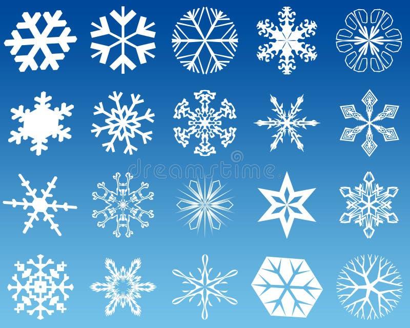Fiocchi di neve venti royalty illustrazione gratis