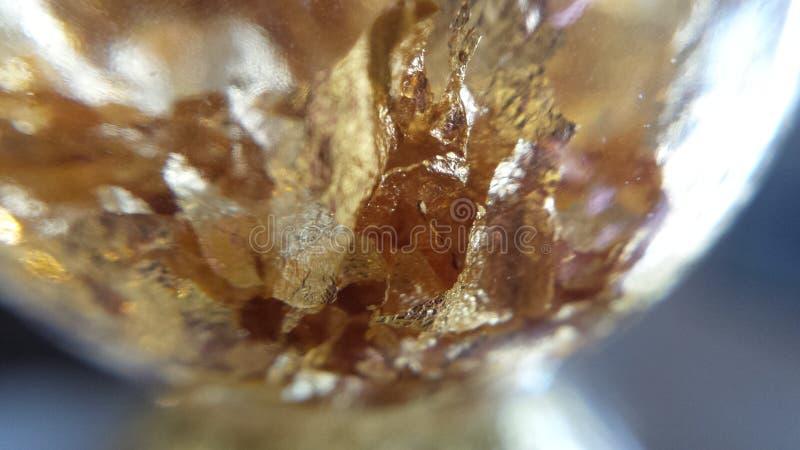 Fiocchi reali dell'oro fotografia stock