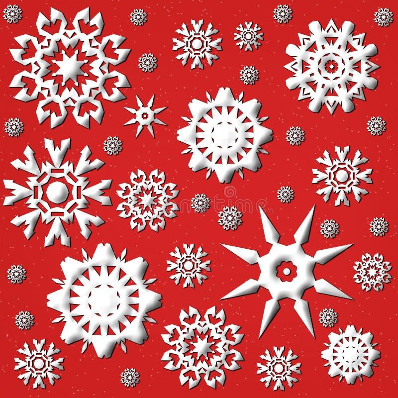 Fiocco di neve Backround illustrazione vettoriale