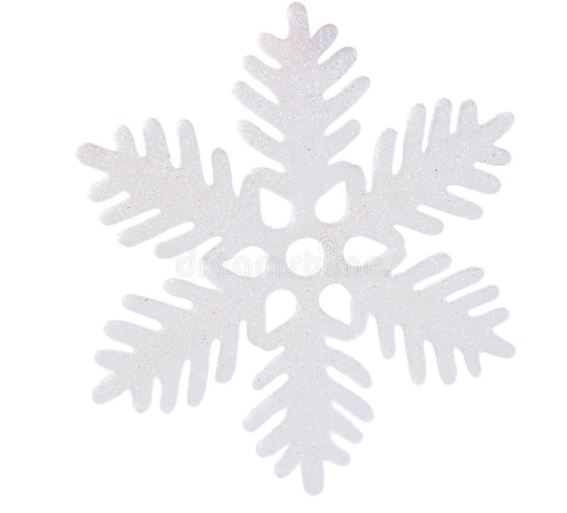 Fiocco di neve bianco isolato fotografia stock