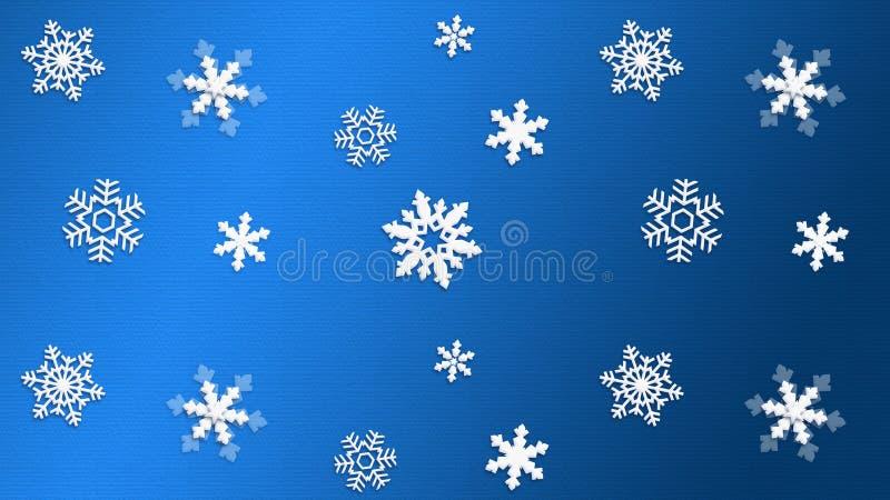 Fiocco di neve BLU di struttura del fondo immagine stock