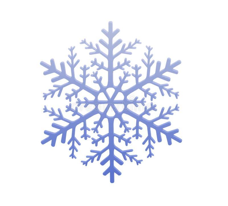 Fiocco di neve chiaro illustrazione vettoriale