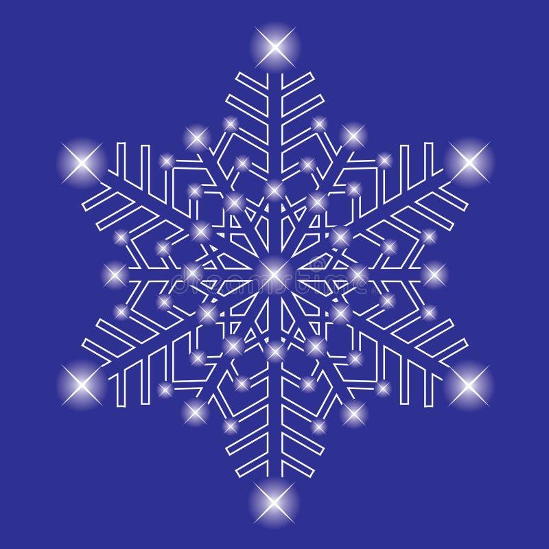 Fiocco di neve decorativo del ghiaccio. illustrazione vettoriale