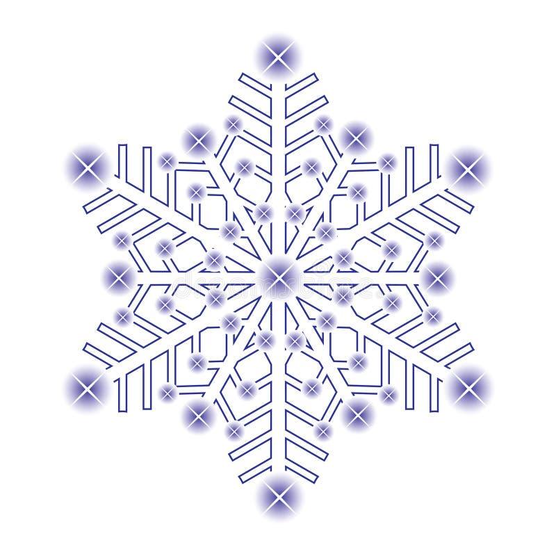 Fiocco di neve decorativo del ghiaccio. illustrazione di stock