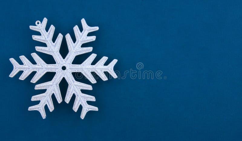 Fiocco di neve dell'argento della decorazione di natale immagine stock libera da diritti