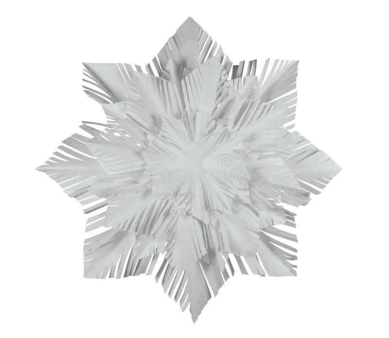 Fiocco di neve della carta - bianco fotografia stock libera da diritti
