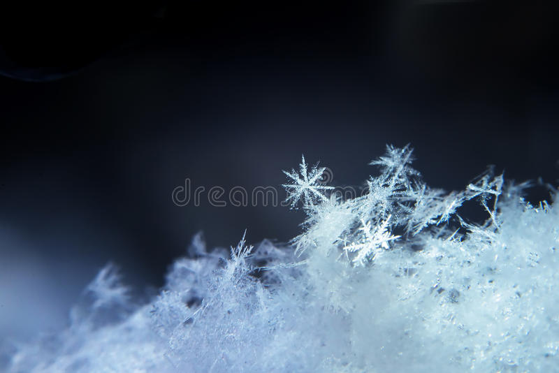 Fiocco di neve, fiocco della neve, fondo di inverno della natura fotografia stock