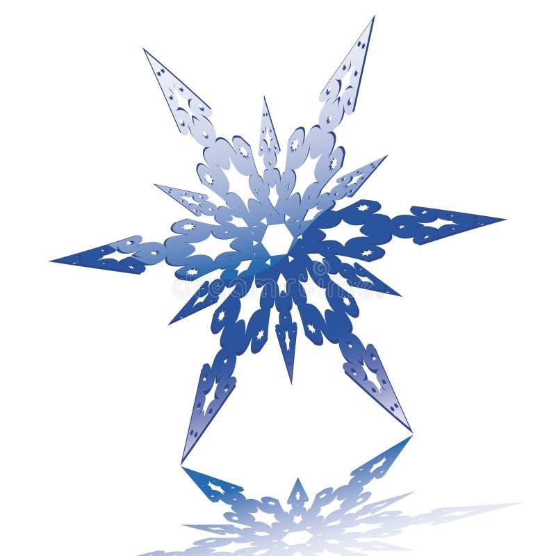 Fiocco di neve lucido royalty illustrazione gratis