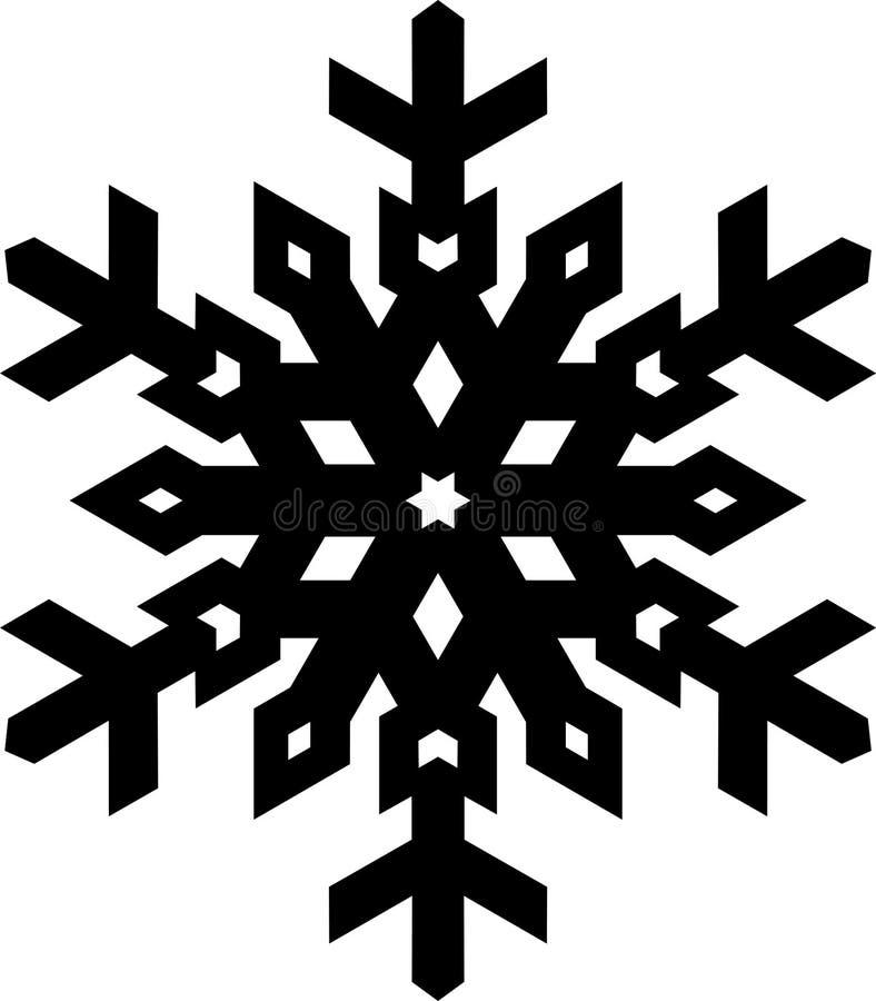 Fiocco di neve nero alla moda di forma semplice per la vostra progettazione Geo di vettore illustrazione vettoriale