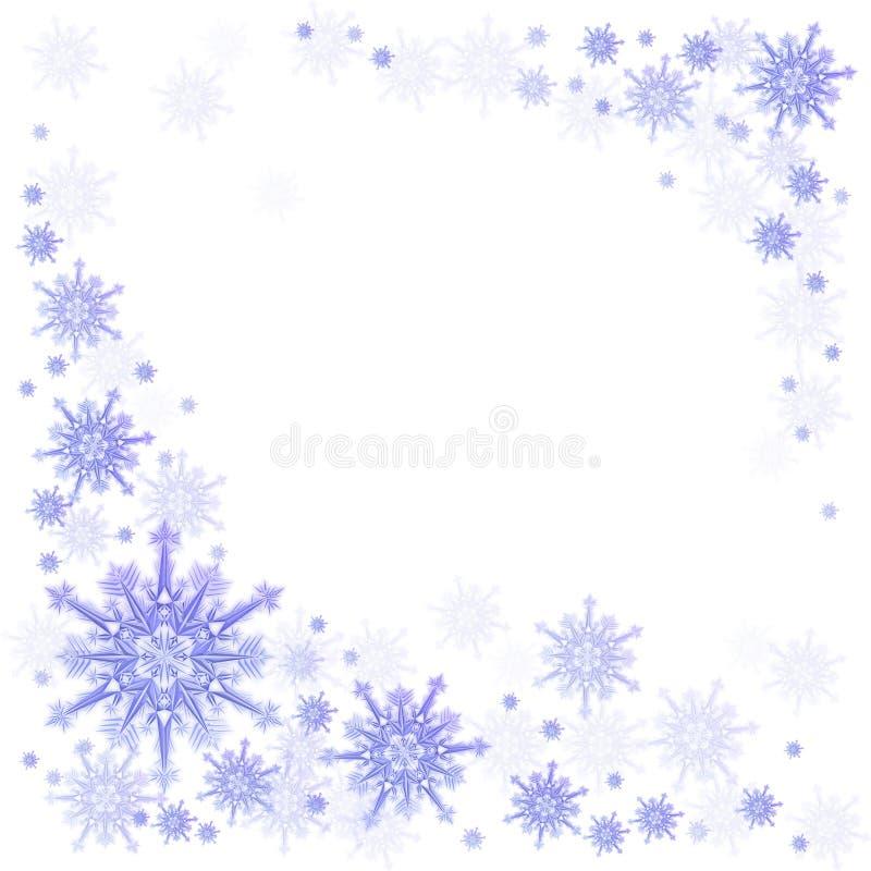 Fiocco di neve su un azzurro illustrazione vettoriale