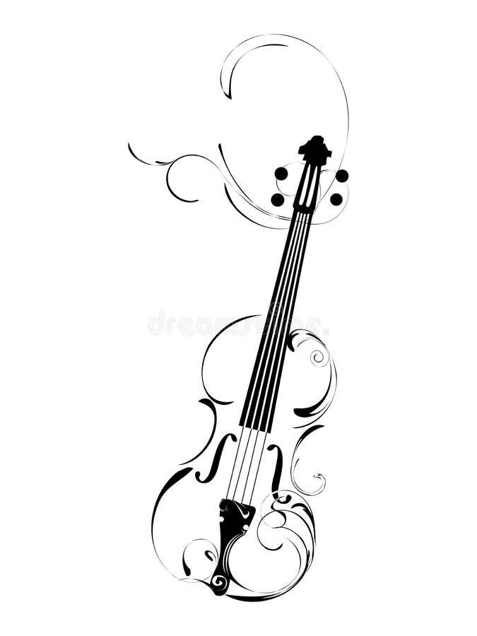 fiol stock illustrationer