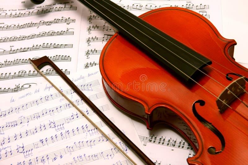 fiol för bokbowmusik arkivbilder