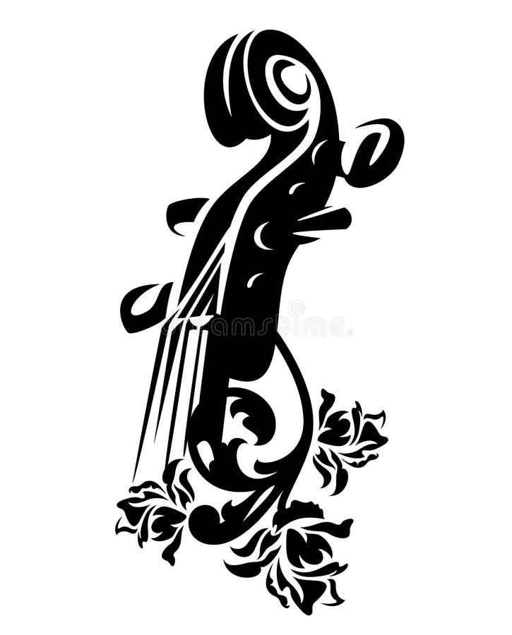 Fiolen bland steg blommavektordesignen vektor illustrationer