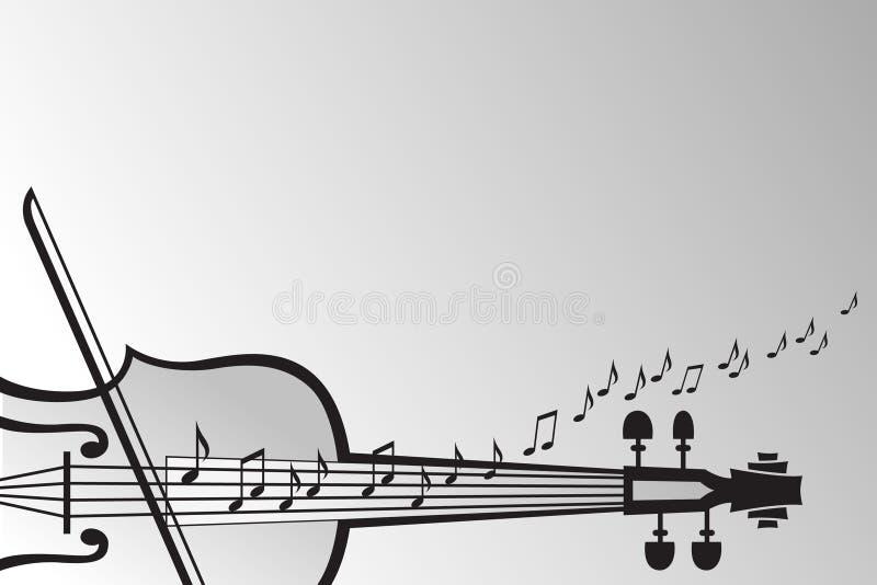Fiolen och musikalen noterar vektor illustrationer