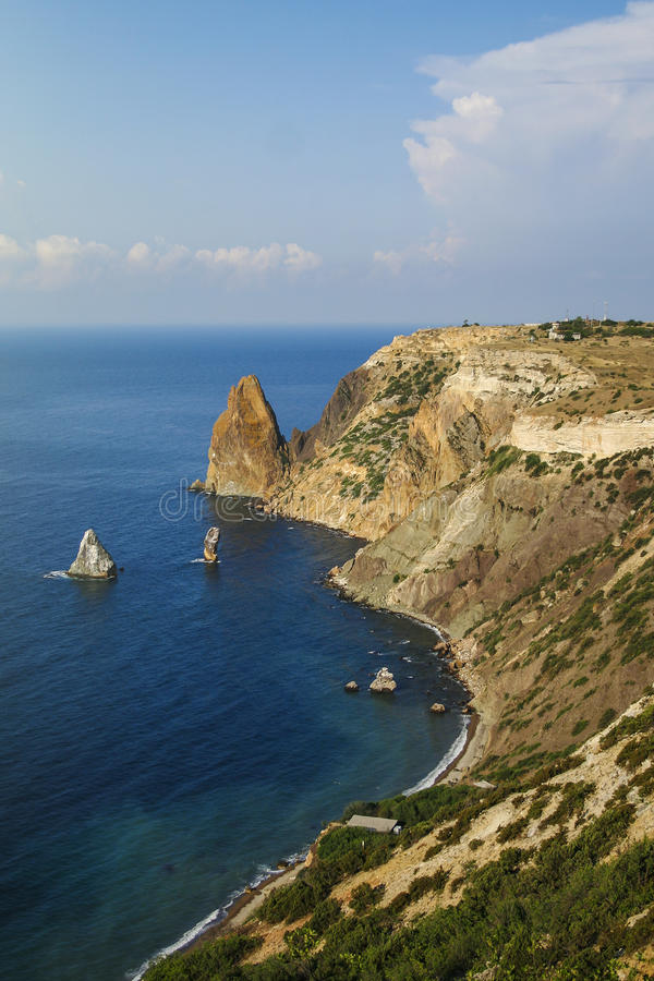 Fiolent cape. Amazing view of Fiolent cape in Crimea stock photography