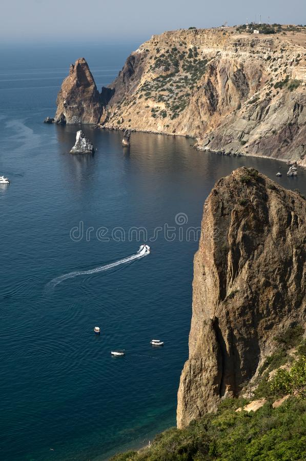 Fiolent cape in Crimea. Near by Sevastopol royalty free stock photos