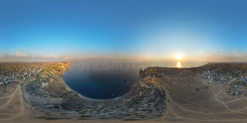 Fiolent crimea Panorama air de 360 degrés photo libre de droits