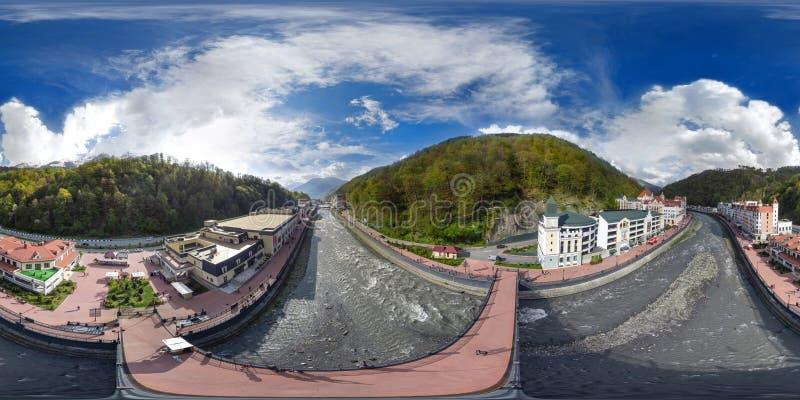 Fiolent crimea Panorama air de 360 degrés photographie stock libre de droits