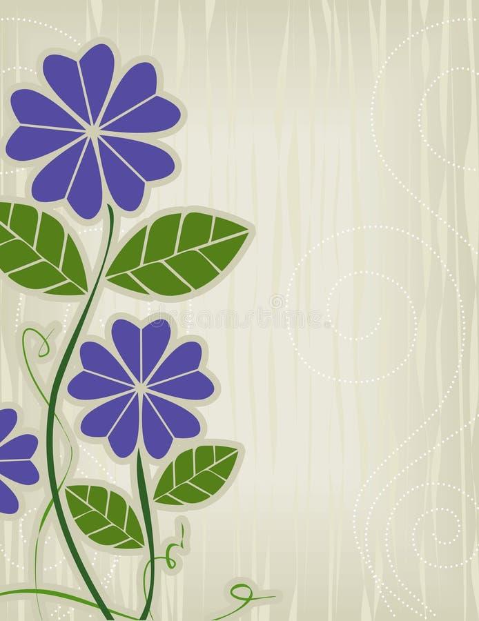 fioletowy kwiat abstrakcyjnych ilustracja wektor