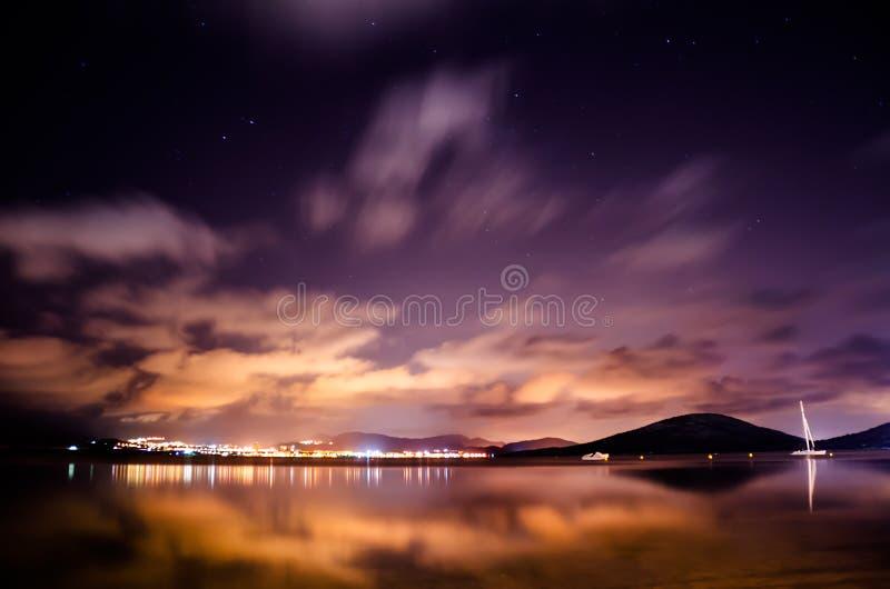 fioletowy niebo zdjęcie stock