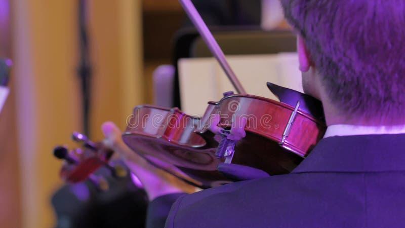 Fiolinstrument, symfoniorkester arkivfoton