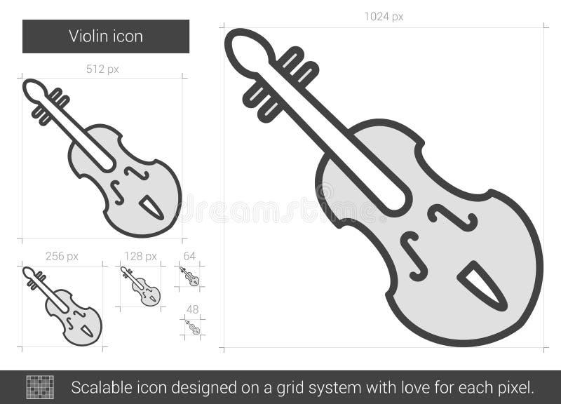 Fiollinje symbol stock illustrationer