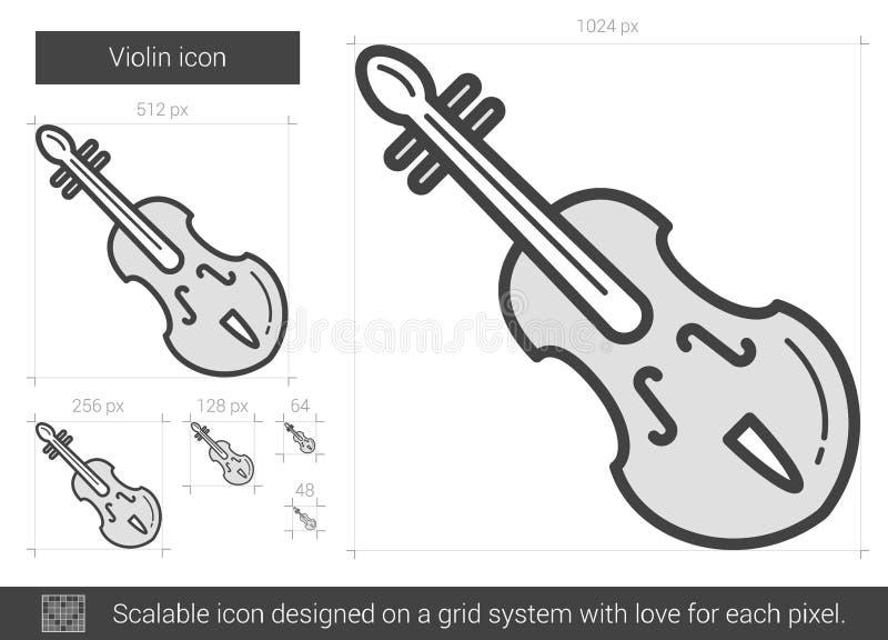 Fiollinje symbol vektor illustrationer