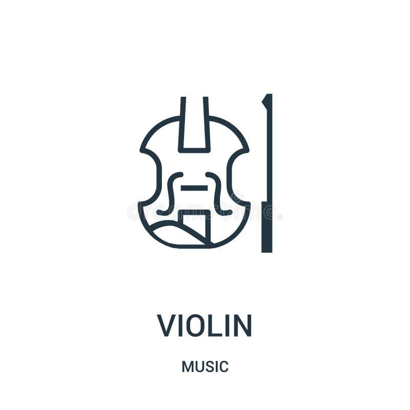 fiolsymbolsvektor från musiksamling Tunn linje illustration för vektor för fiolöversiktssymbol vektor illustrationer