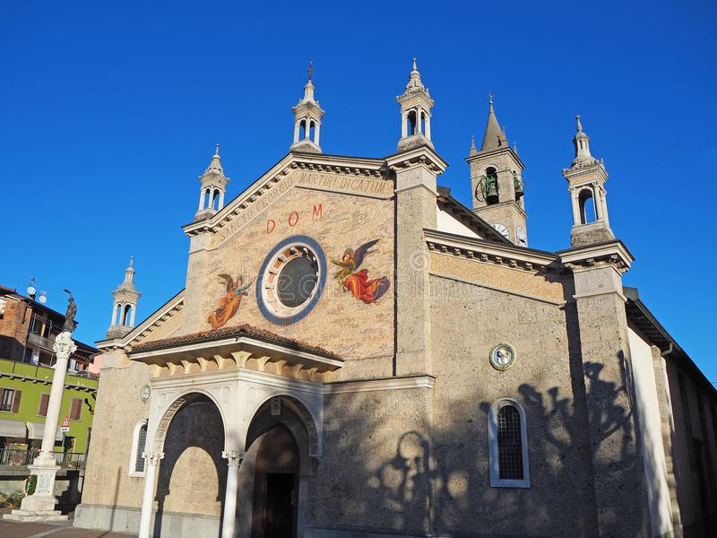 Fiorano al Serio, Bergamo, Italy. The main church of Saint Giorgio. The facade royalty free stock photo