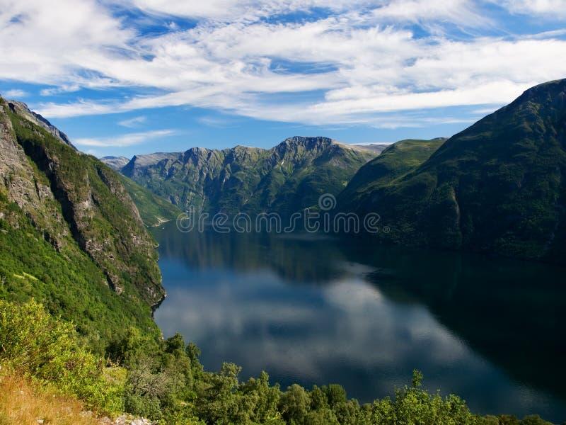Fiord de Geiranger, Noruega fotos de archivo