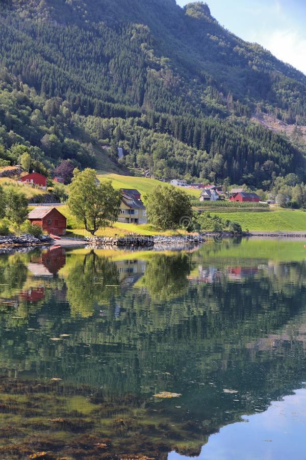 fiord norway royaltyfria bilder