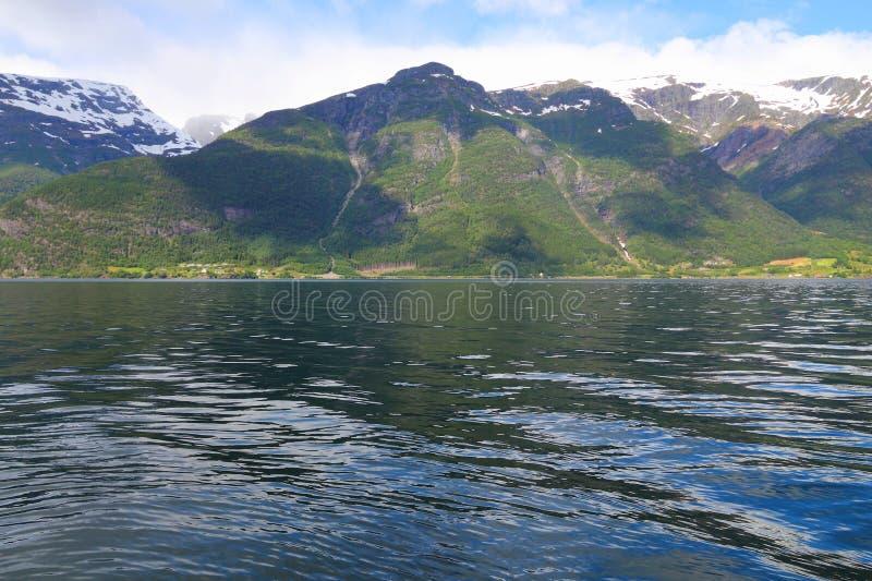 fiord norway fotografering för bildbyråer