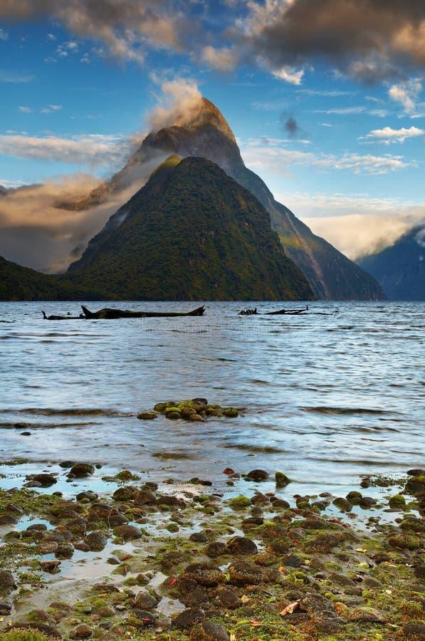 fiorda milford nowy rozsądny Zealand obrazy royalty free