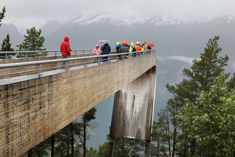 Fiorden förbiser i Norge arkivbild