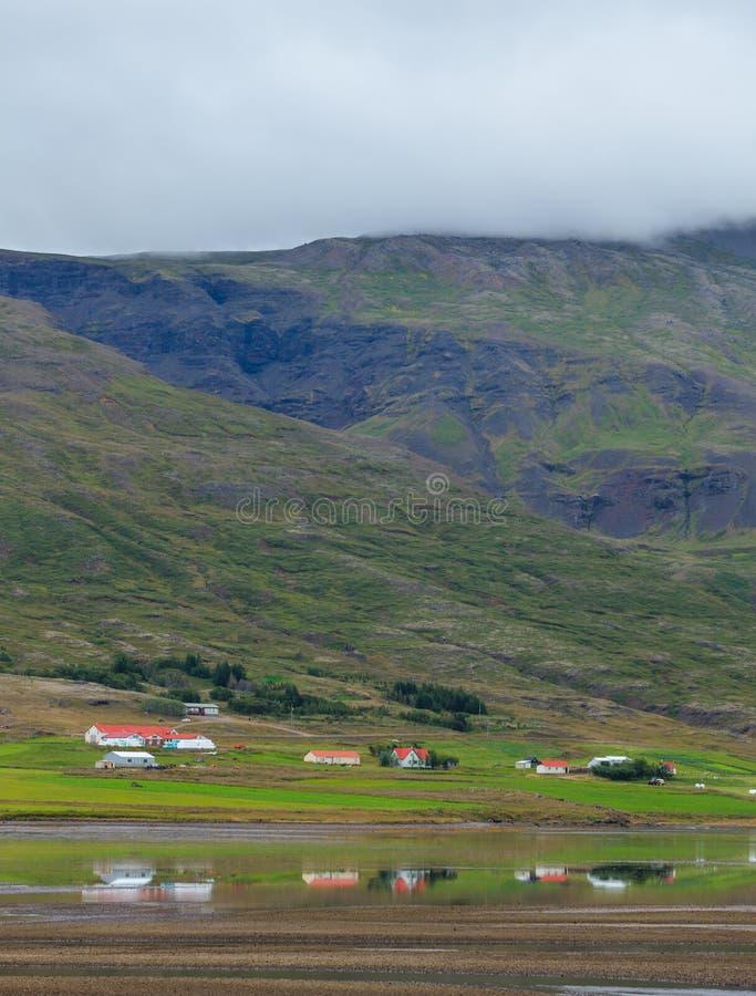 Fiordes do leste Islândia fotos de stock royalty free