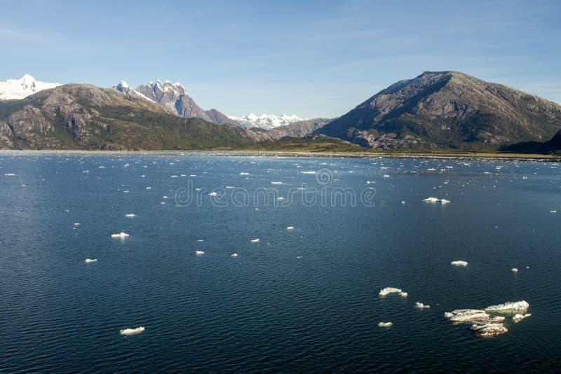 Fiordes e canal chilenos de Sarmiento fotografia de stock