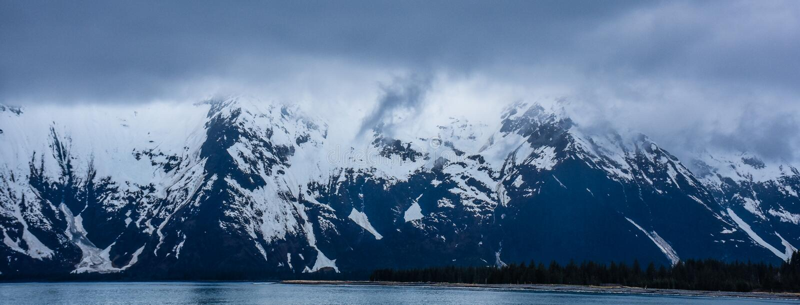 Fiordes parque nacional de Kenai, Alaska, EUA fotografia de stock royalty free