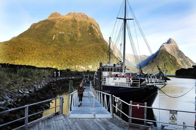 Fiordland Nieuw Zeeland royalty-vrije stock foto's