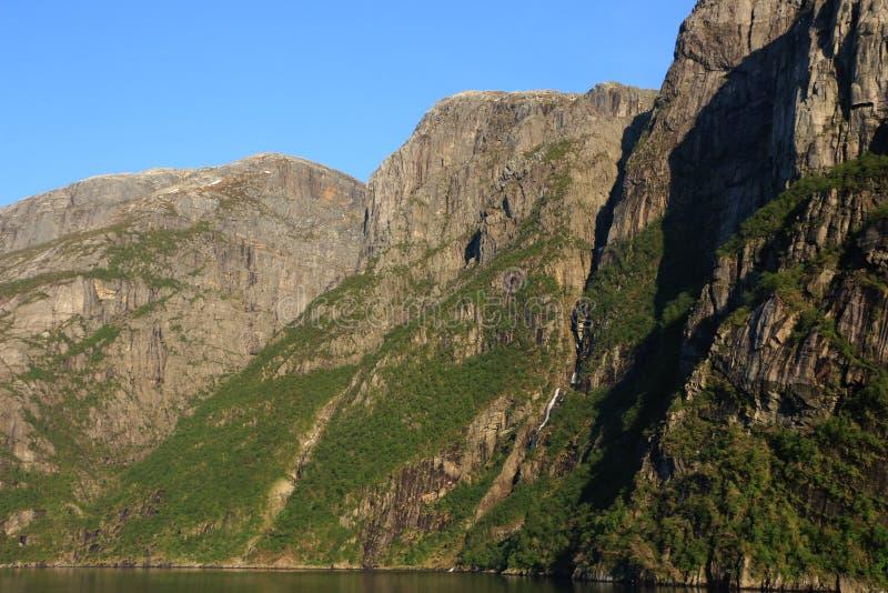 Fiordlandschap stock foto