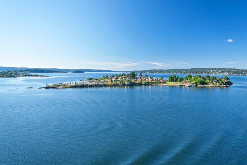 Fiordo de Oslo foto de archivo libre de regalías