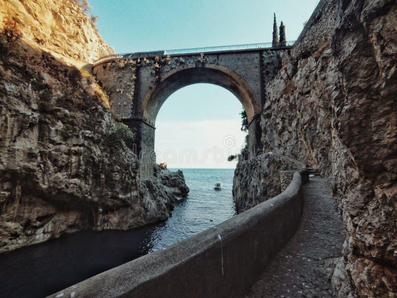 Fiordo di furore视图 库存照片