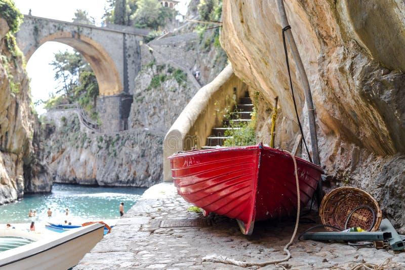 Fiordo di Furore beach. Furore Fjord Amalfi Coast Positano Naples Italy royalty free stock photos