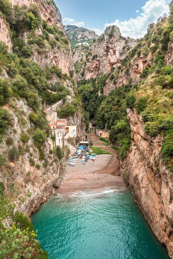 Fiordo di furore Costiera Amalfitana Italia foto de archivo libre de regalías