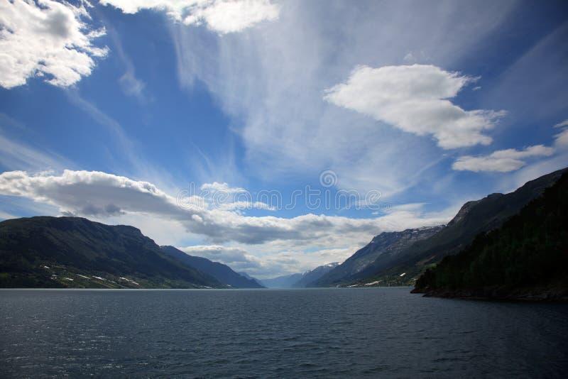 Fiordo di Hardanger, Norvegia immagine stock libera da diritti