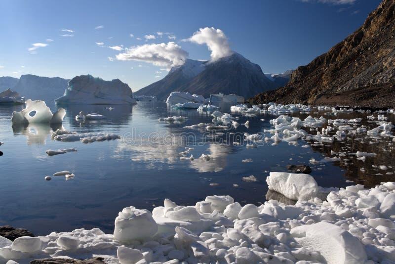 Fiordo di nord-ovest - Groenlandia fotografia stock libera da diritti